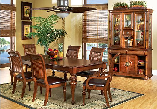 Cindy Crawford Home Key West Dark 5 Pc Leg Dining Room | Pinterest ...