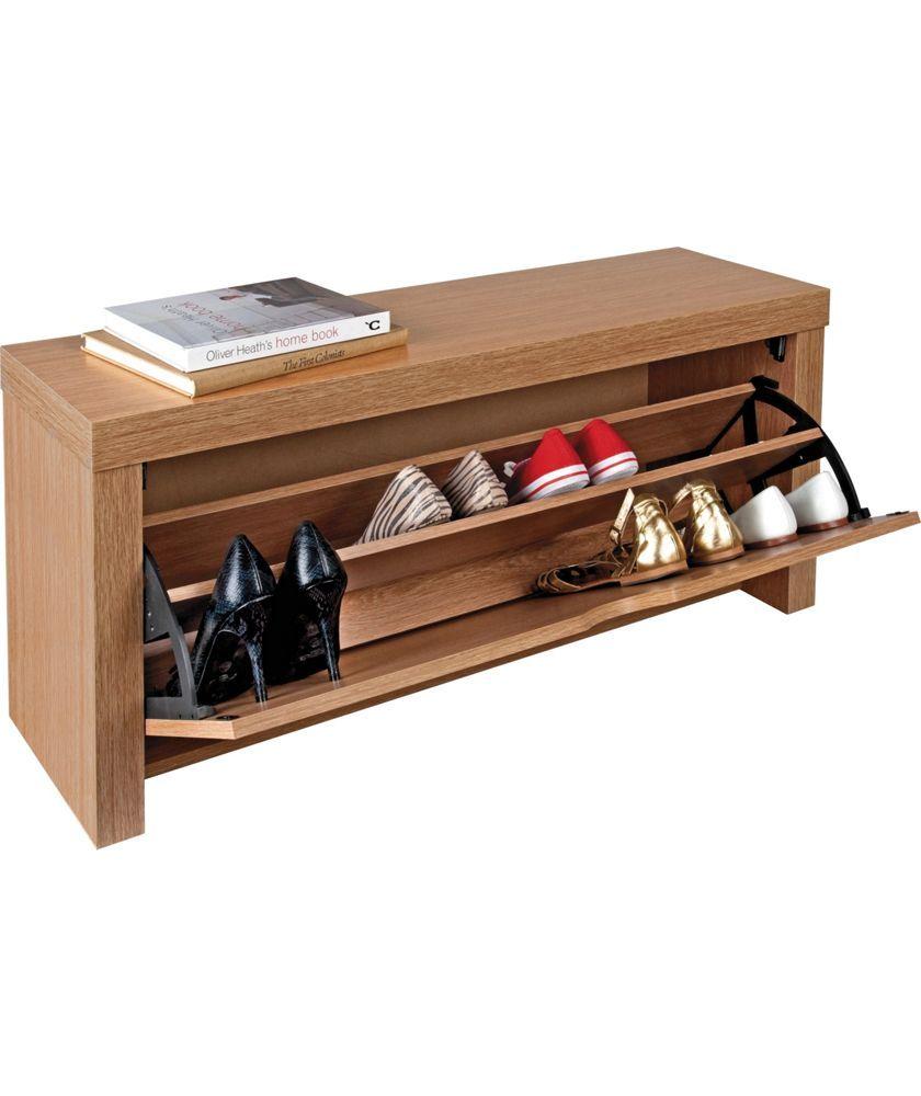 Buy Cuban Shoe Storage Cabinet - Oak Effect at Argos.co.uk - Your Online Shop for Shoe storage.