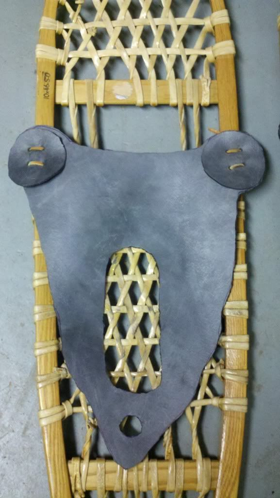 How to make homemade snowshoe bindings