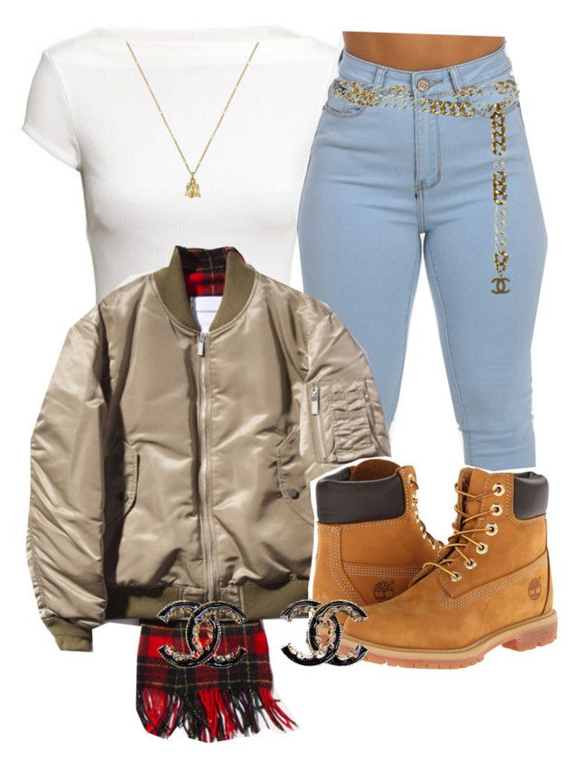 """Only"" by queen-tiller ❤ liked on Polyvore featuring H&M, Timberland, Chanel and Gucci"