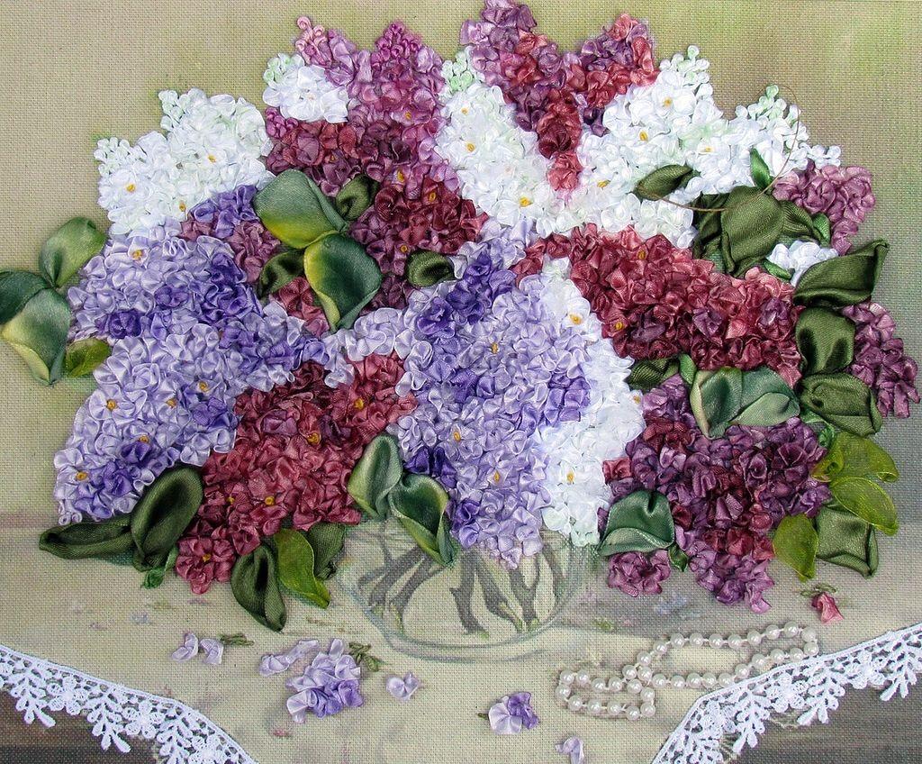 Cuadro ot embroidery ribbon pinterest ribbon embroidery