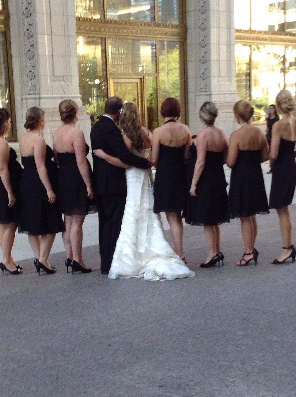 A wedding in the city.