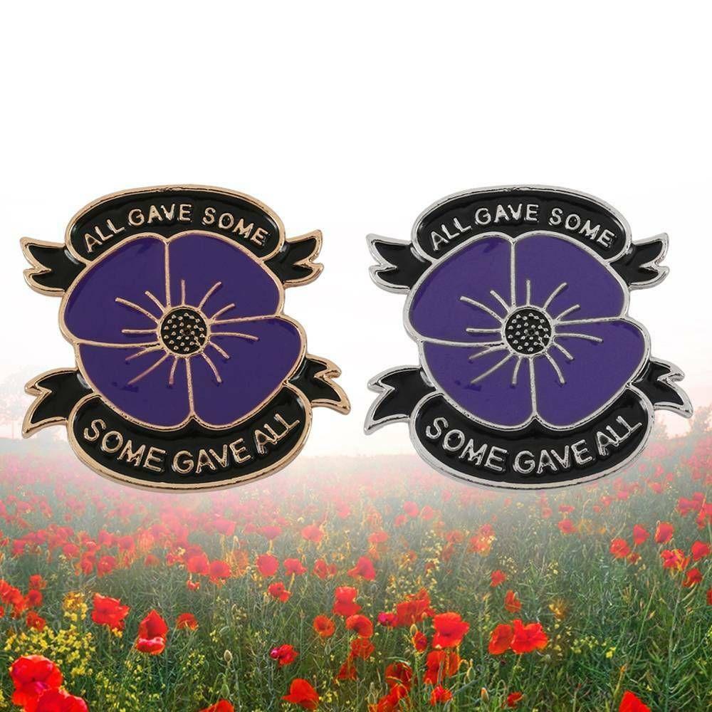 New Poppy Badges Pin Lapel Enamel Crystal Brooch 2019 Brooch Badge