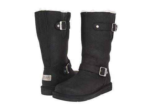 Ugg Kensington 5678 Black Leather Womens Size 7