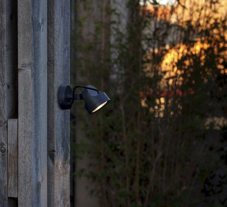 Spot d\'extérieur, Alfa, noir, LED, Ø11cm - FARO