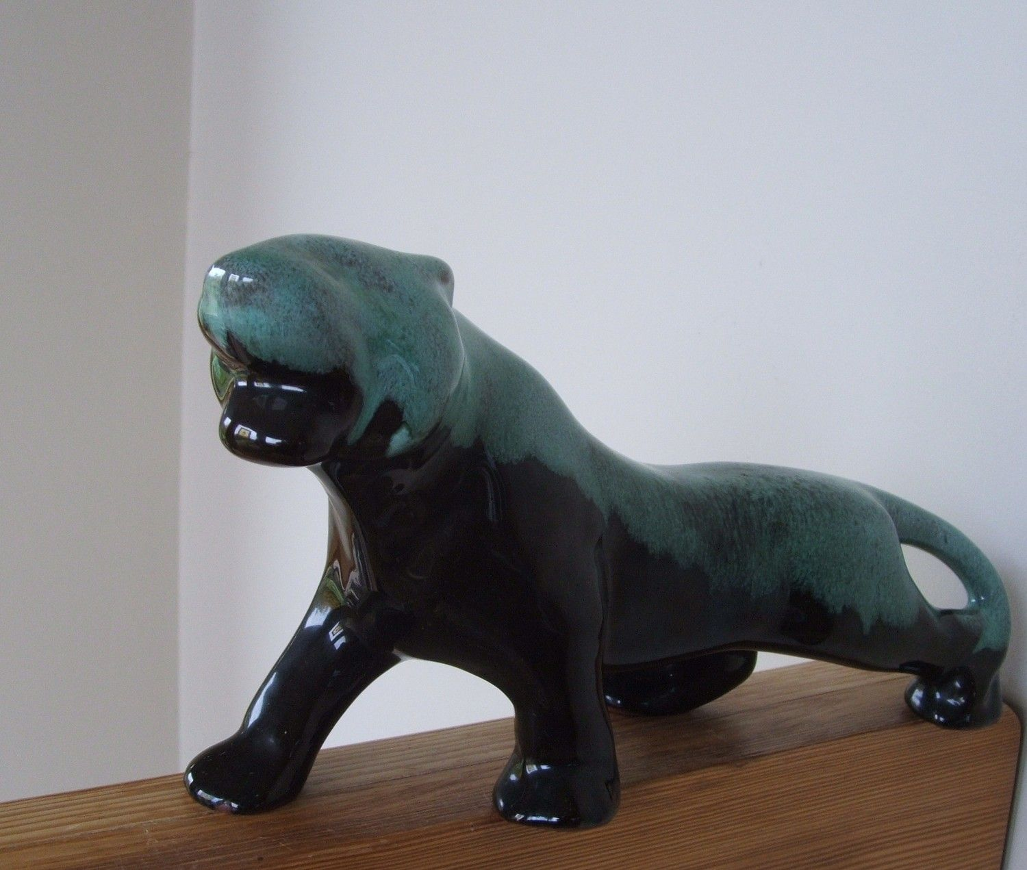 Blue mountain pottery panther by lookonmytreasures on etsy