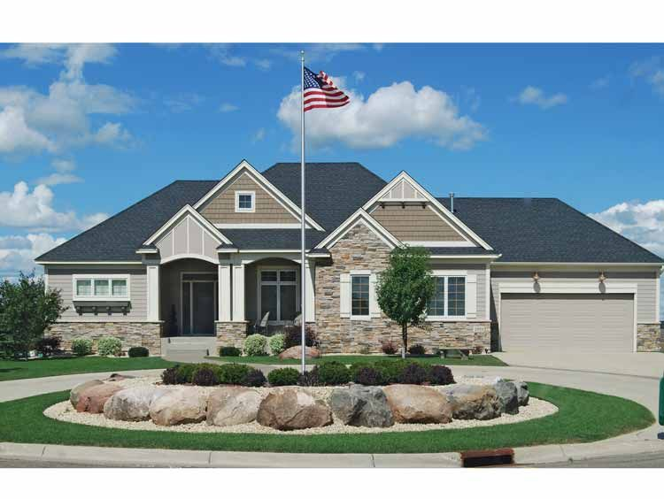Craftsman Style House Plan 3 Beds 2 5 Baths 3000 Sq Ft Plan 320 489 Mediterranean Style House Plans Craftsman House Plans Craftsman Style House Plans
