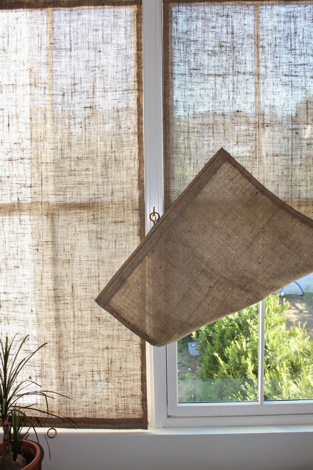 the shingled house : Burlap Window Shades | For Our Home ...