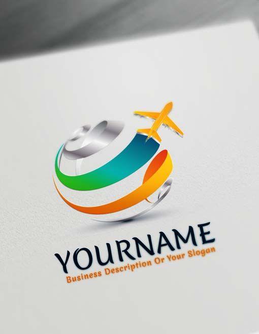 free travel logo generator online plane flying logo travel logo rh pinterest com brand logo creator free brand logo maker free