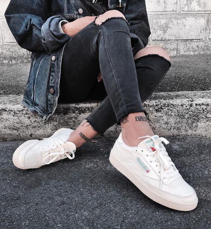 zapatos reebok trenzas vintage