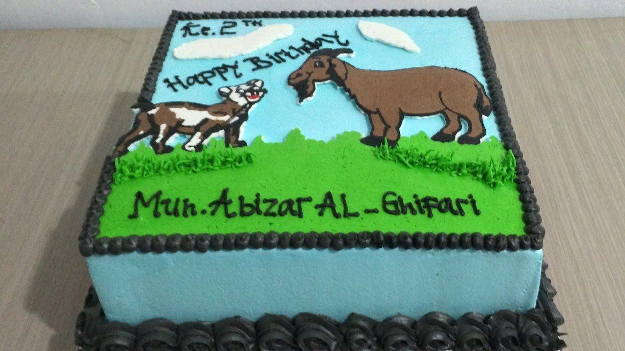 Buttercream Transfer Cat Vs Goat Cake Decorating