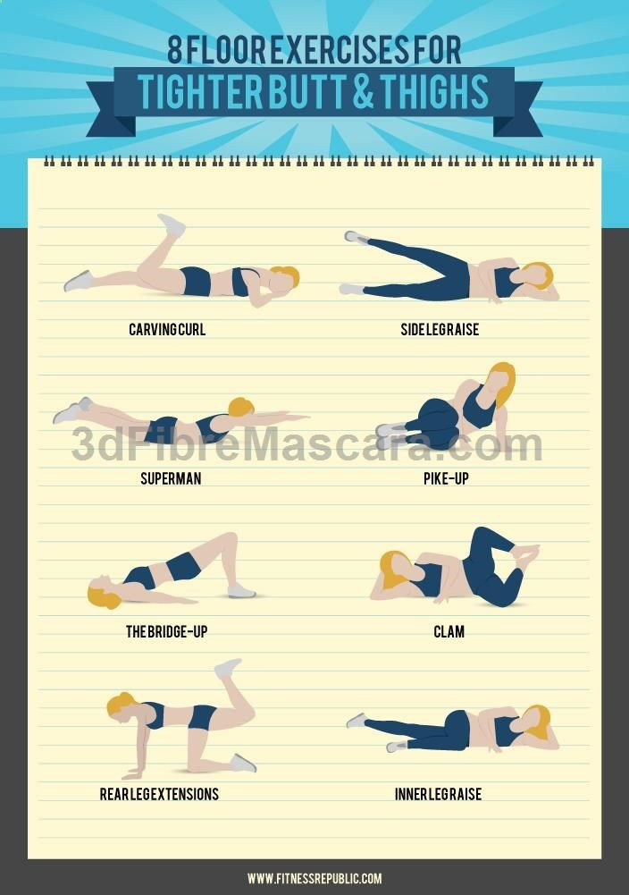 8 Floor Exercises for a Tight Butt and Toned Thighs | Fitness Republic #diet #dieting #lowcalories #dietplan #excercise #diabetic #diabetes #slimming #weightloss #loseweight #loseweightfast