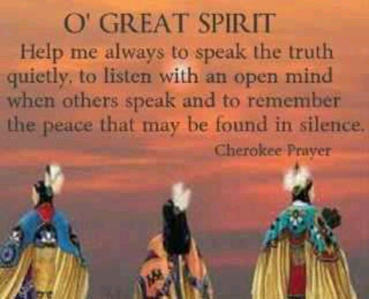 O' Great Spirit