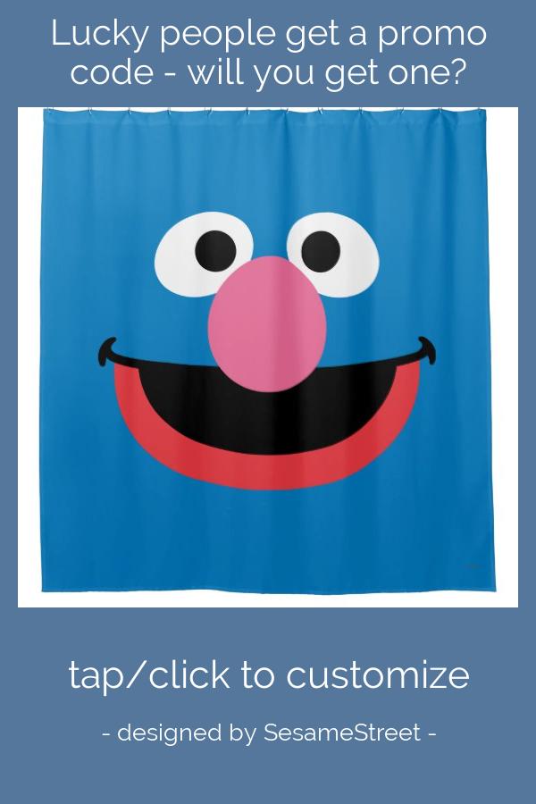 Grover Face Art Shower Curtain Zazzle Com Face Art Custom Shower Custom Shower Curtains