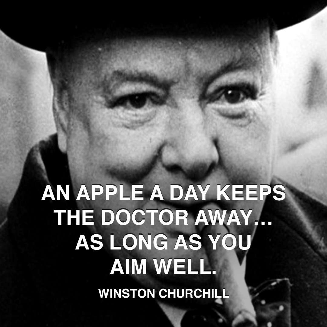 Citaten Winston Churchill : Winston churchill apple doctor … pinteres…