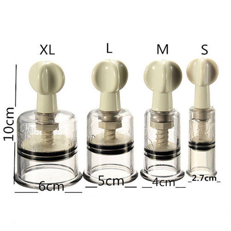 1 조각 쉽게 트위스트 로타리 부항 젖꼭지 확대 없음 펌프 흡입 확대기 바디 마사지 컵 크기 S/M/L/XL 무료 배송