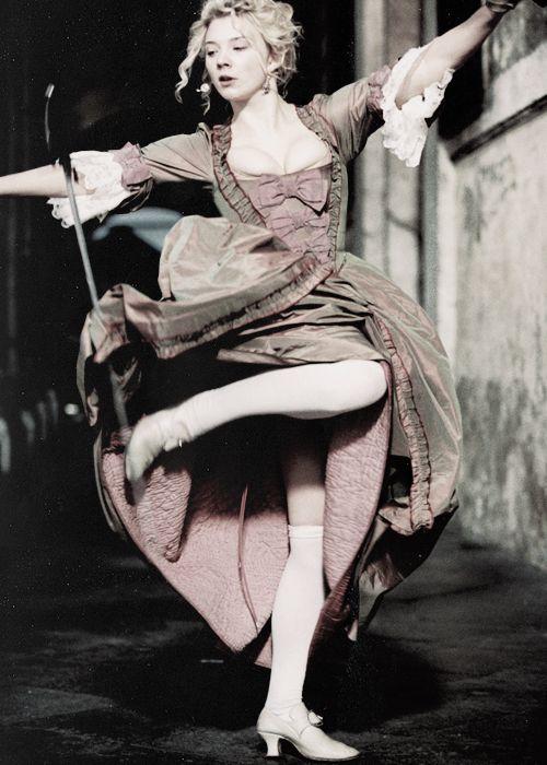 Victoria, portrayed by Natalie Dormer, on the set of Casanova (2005)