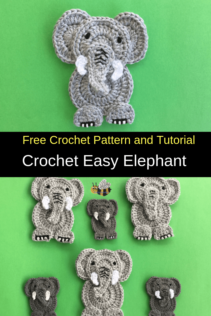 Free Beginner Crochet Elephant Pattern