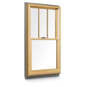 Andersen 37 625 In X 56 875 In 400 Series Tilt Wash Double Hung Wood Window With White Exterior And Grilles 9117172 Wood Windows Double Hung Windows Best Home Interior Design