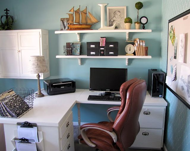 Organized 10x10 office and lots of cute ideas and links Office