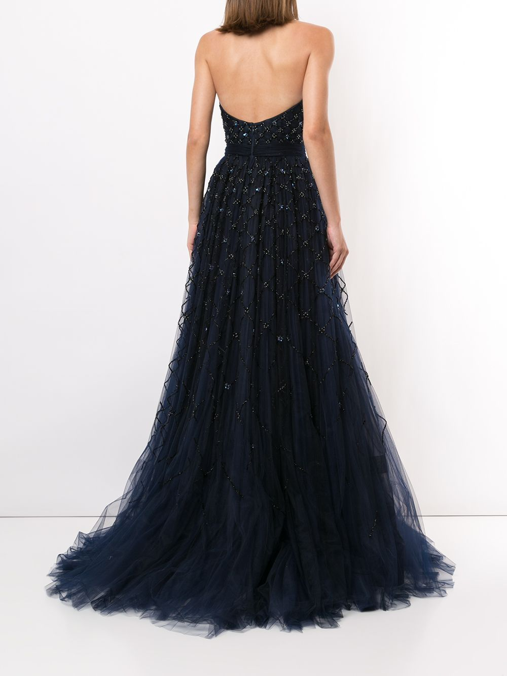 Carolina Herrera Bead Embellished Strapless Gown Farfetch Strapless Gown Backless Dress Formal Gowns [ 1334 x 1000 Pixel ]