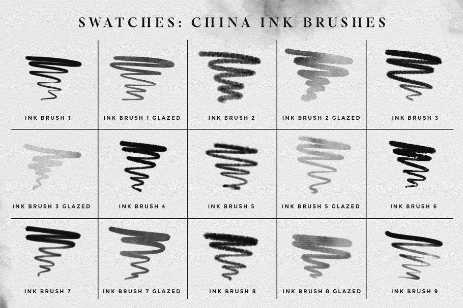 Ink Brushes Photoshop Version Ink Photoshop Ink Wash