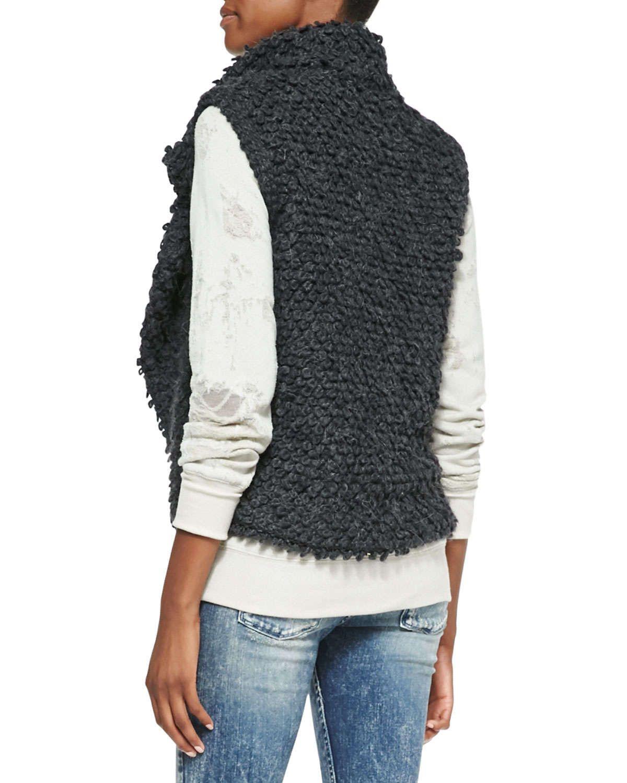 Catleen Looped-Knit Vest