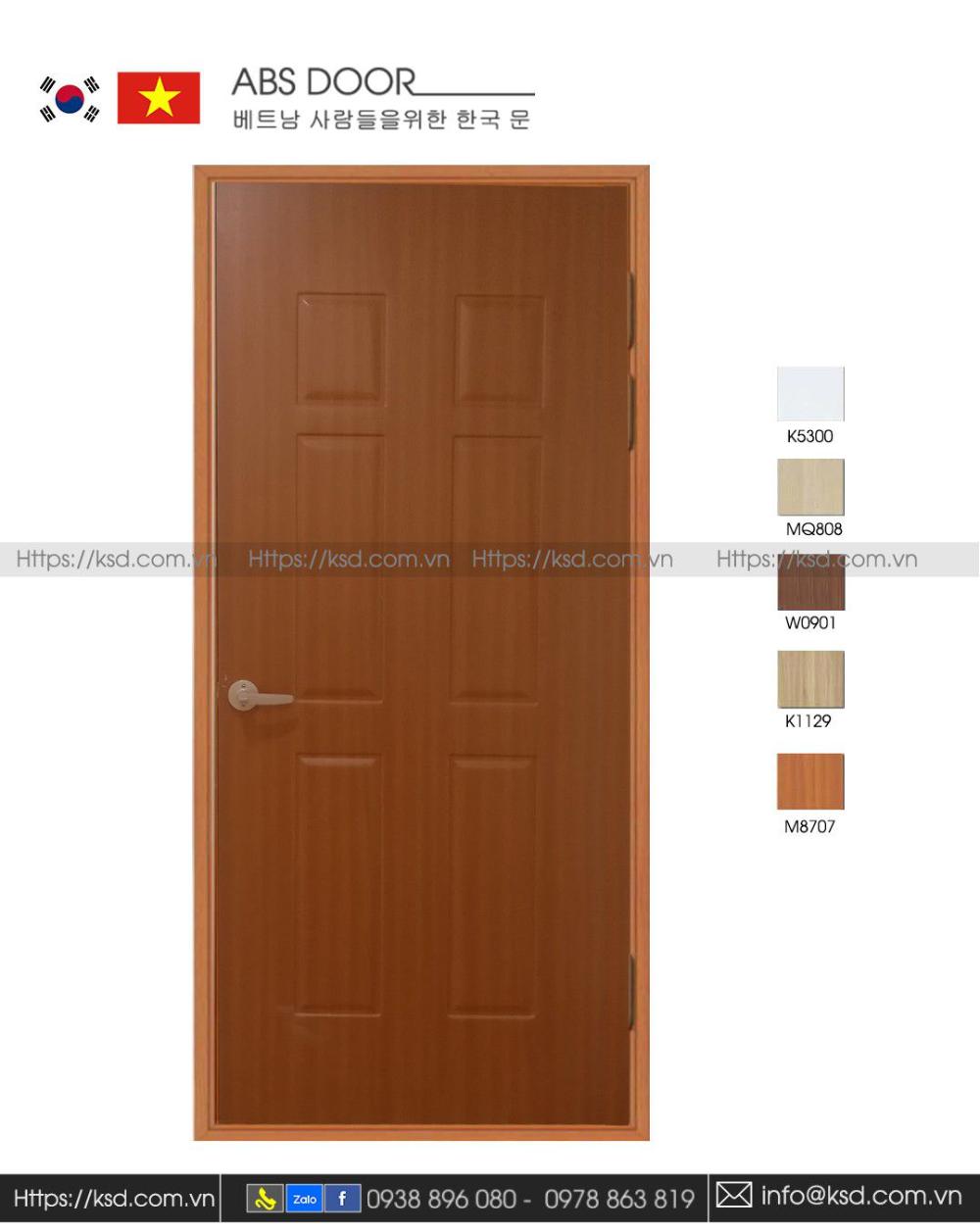 ABS Door KSD 120 W8707 – New model Korean ABS plastic door