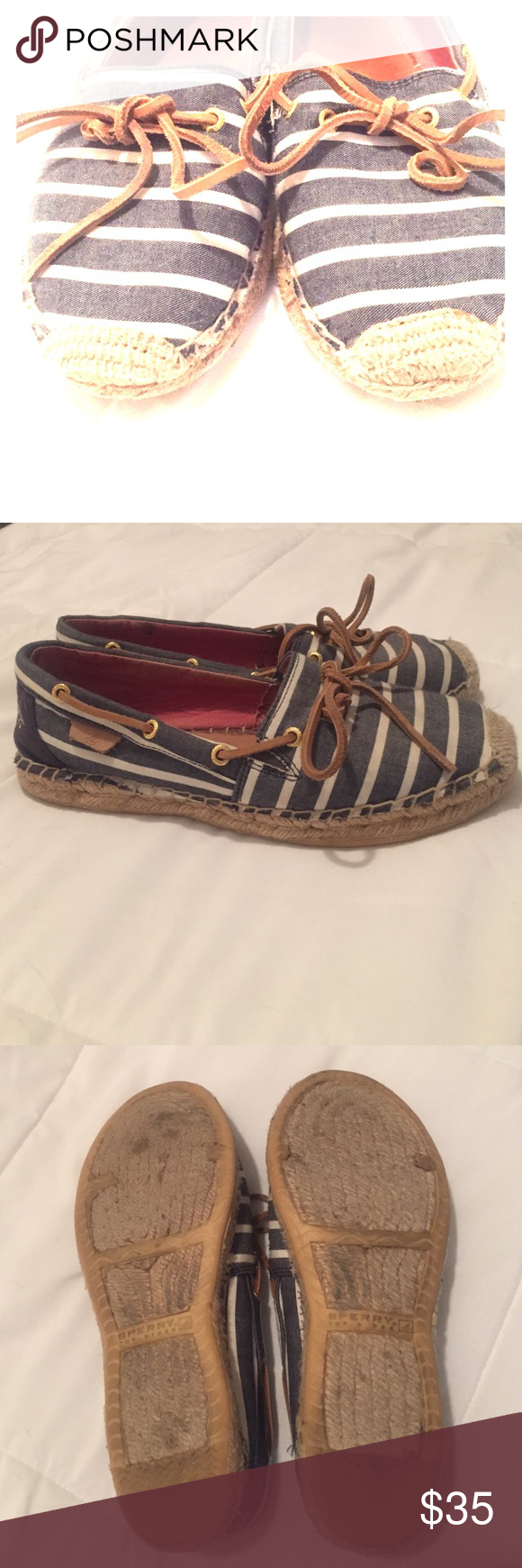 SPERRY'S 7.5 • Navy & White • Lots of life left! SPERRY'S 7.5 • Navy & White • Lots of life left! Sperry Top-Sider Shoes Flats & Loafers