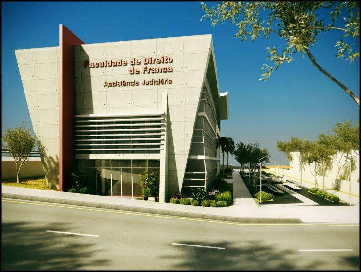 Novo Prédio Faculdade de direito de Franca sp - maquete eletronica