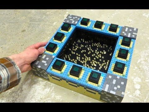 Minecraft lego end portal minecraft lego pinterest lego end portal lego build this guy has other minecraft builds on other videos sciox Image collections