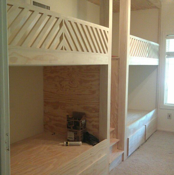 Best The Coolest Built In Bunk Beds And Diy Brass Hardware 400 x 300
