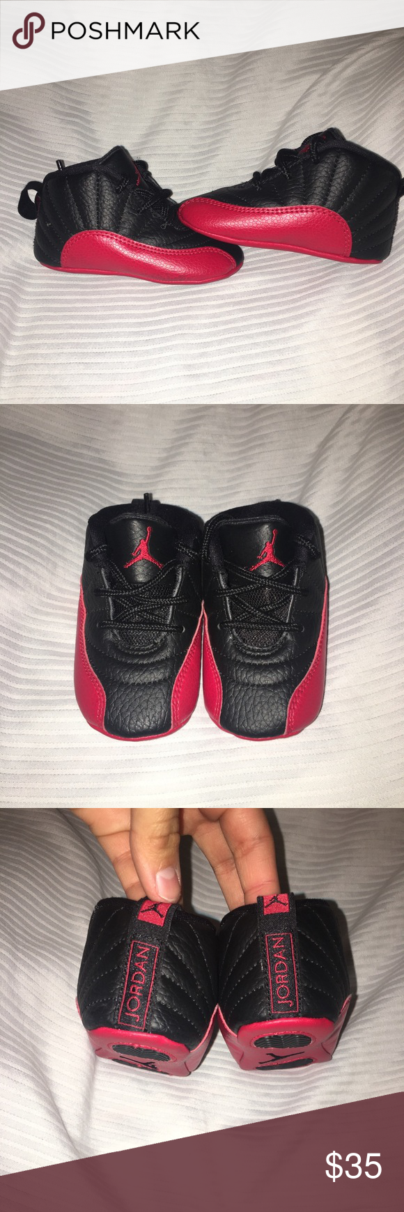 new concept 41371 b4138 Baby Jordan 12s. Size: 3C Red and black Jordan 12s Air ...