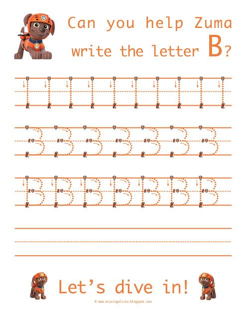 learn to write the uppercase letter b with zuma from paw patrol homeschool life as a moore. Black Bedroom Furniture Sets. Home Design Ideas