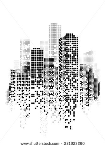 Vector design eps building and city illustration at night scene on time urban cityscape also rh pinterest