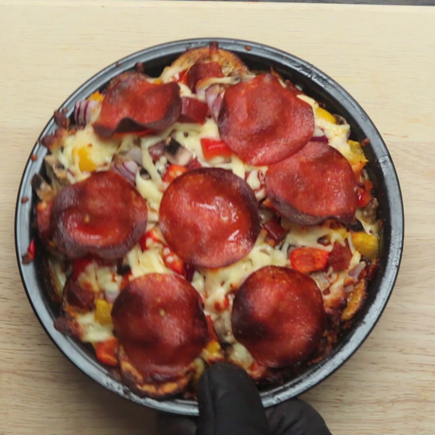 Pepperoni Pizza Potato Bake