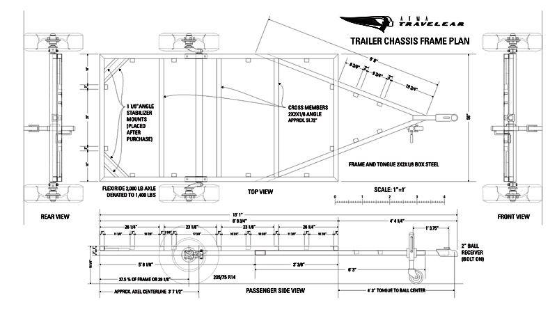 trailer frame plan 1 remorks pinterest caravane soudure et suspension. Black Bedroom Furniture Sets. Home Design Ideas