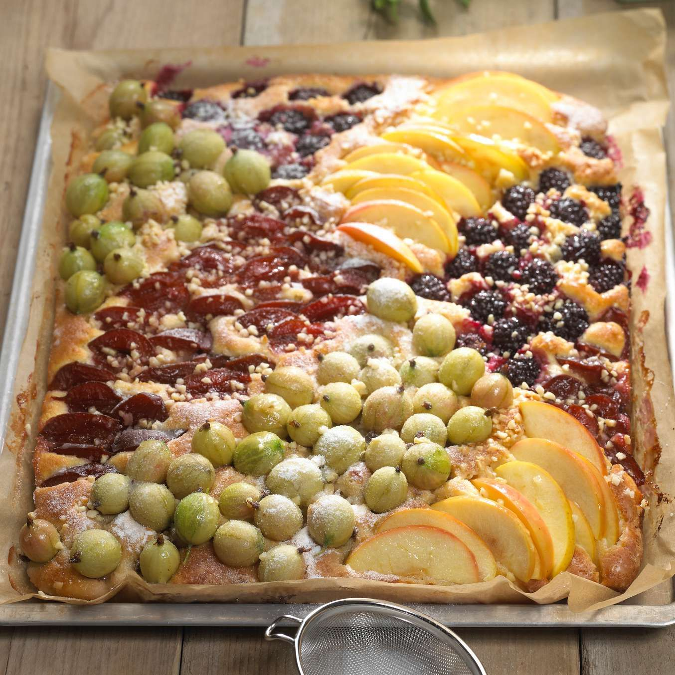 Kuchen Mit Viererlei Versunkenen Fruchten Rezept Pinterest