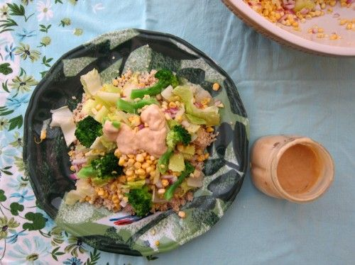 Early Fall Crunchy Millet Salad