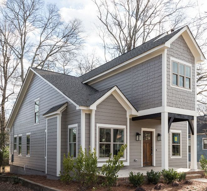 The Exterior Of This Home Is Painted Sherwin Williams Gauntlet Gray. The Trim  Paint Color Is Sherwin Williams Pure White The Front Entry Door Is Sherwin  ...