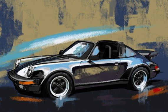 Porsche Carrera 911 Targa art. Canvas print or a paper giclee print