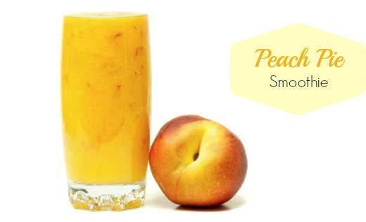 It's cold, dark and rainy in my neck of the woods, I need a little bit of sunshine in my morning, so I'm whipping up my Peach Pie Smoothie with peaches from my freezer!