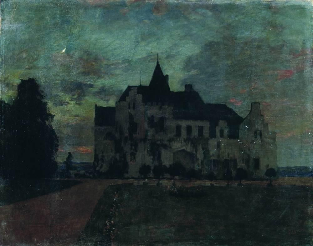 Twilight. A castle. By Isaac Levitan, 1898..........in love with this one!