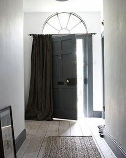 curtain over front door window front