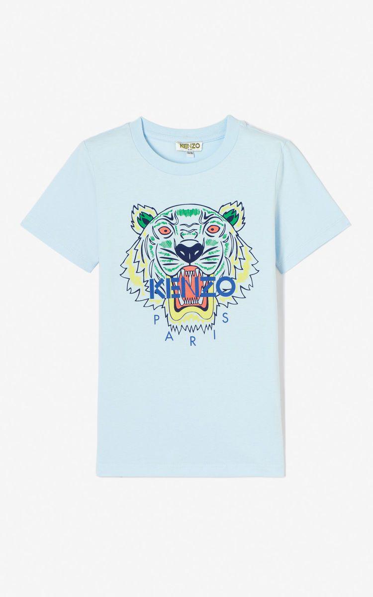e33acf60480a Kenzo.com. LIGHT BLUE Tiger t-shirt for men KENZO
