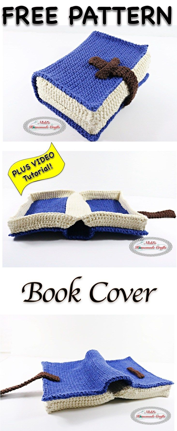 Book Cover - Free Crochet Pattern   Pinterest   Ganchillo, Tejido y ...