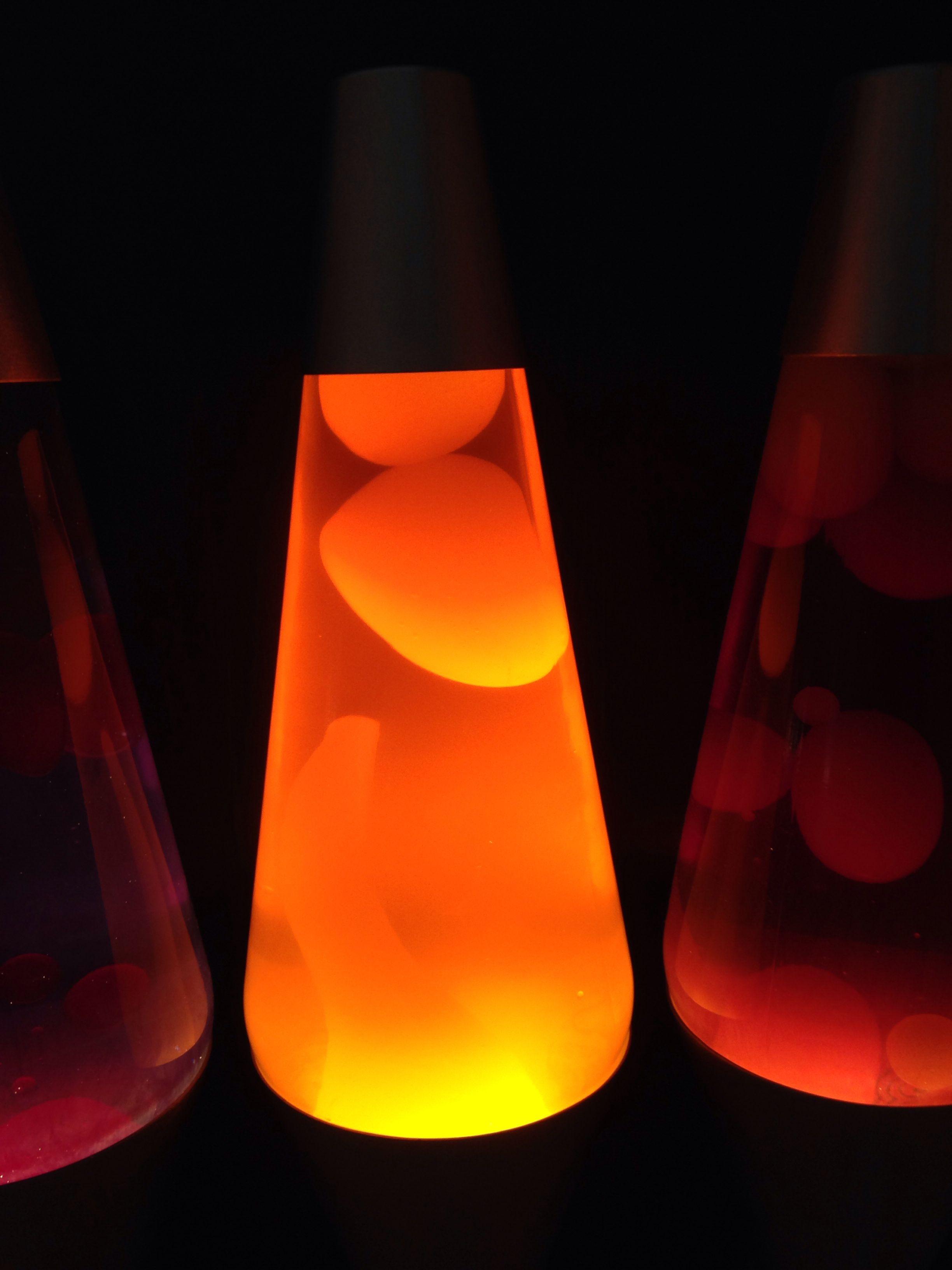 Custom 14 5 Quot Lava Lamp Orange Liquid Yellow Wax