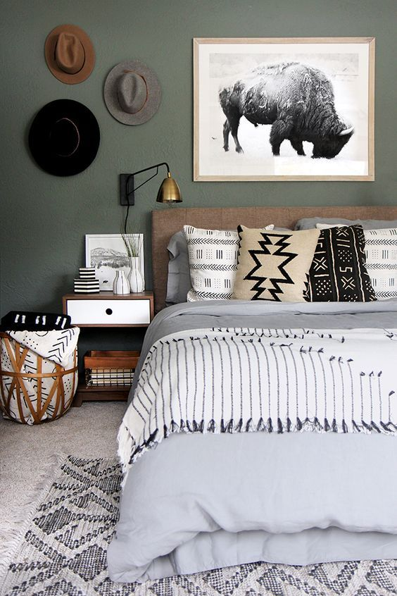 inspiration f r mehr gr n im schlafzimmer schlafzimmer. Black Bedroom Furniture Sets. Home Design Ideas