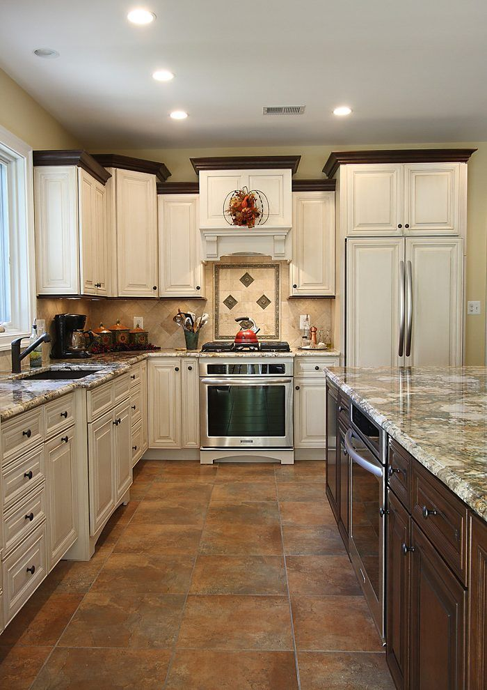 image result for white kitchen with stained wood trim kitchen cabinets to ceiling galley on kitchen cabinets trim id=22857