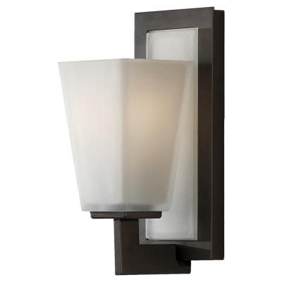 Basement stairs? Feiss Clayton 1-Light Oil Rubbed Bronze Vanity Light-VS16601-ORB - The Home Depot